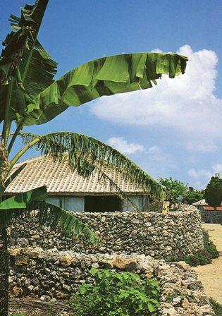 沖縄・竹富島の家並