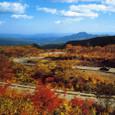 国立公園 蔵王・弘法坂付近のエコーラインと青麻山